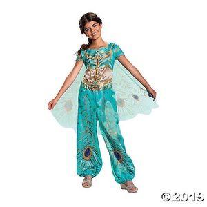NWT Disney Jasmine from Aladdin Teal Costume XS
